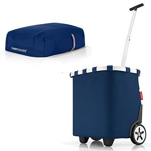 reisenthel - EXKLUSIVES ANGEBOT! carrycruiser + GRATIS cover! Einkaufskorb Einkaufstasche Einkaufstrolley (dark blue)