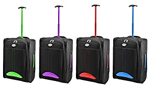 Humlin Cabin Bag Lightweight Wheeled Bag Flight Suitcase Case Hand Luggage Trolley Holdall