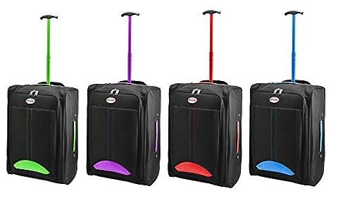 HUMLIN CABIN BAG LIGHTWEIGHT WHEELED BAG FLIGHT SUITCASE CASE HAND LUGGAGE TROLLEY HOLDALL