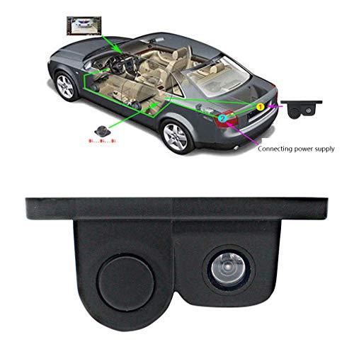 41bs6m%2BJyML - Luckiests 2 en 1 Auto estacionamiento del sensor del sonido de alarma del revés del coche del vídeo de copia de seguridad del coche granangular de alta definición marcha atrás cámara de visión trasera