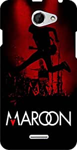 Incarnation Maroon 5 Htc Desire 516 Back Cover & Cases