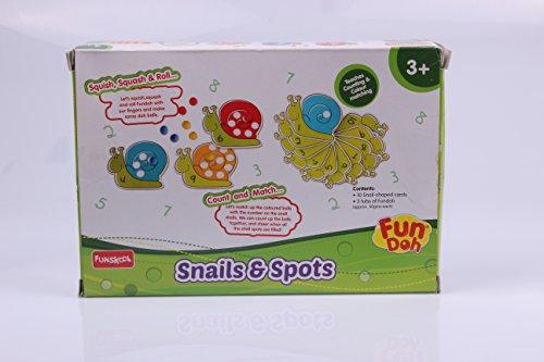 Funskool Fundoh Snails and Spots, Multi Colour