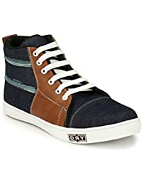 Oladin Premium Denim Canvas Shoes Black/Navy/Blue (NHT-735)
