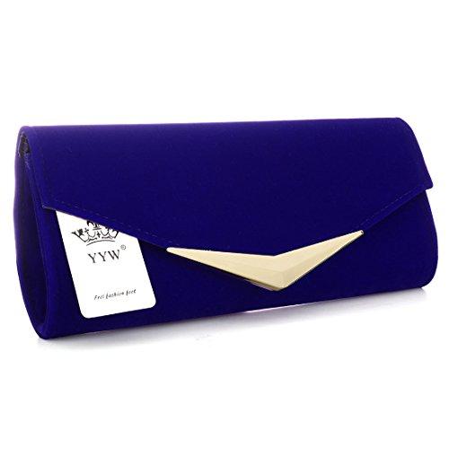 YYW Evening Bag, Poschette giorno donna Dark Blue