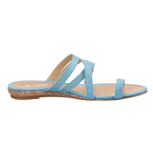 Damen Schuhe, AG4006, SANDALEN Hellblau