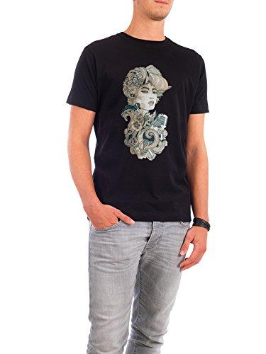 """Design T-Shirt Männer Continental Cotton """"dulcinea 2"""" - stylisches Shirt Fashion von Giulio Iurissevich Schwarz"""