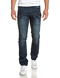BLZ jeans - Jean homme bleu délavé à poches