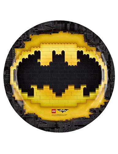 amscan-9901822-Teller aus Pappe Batman, 23cm