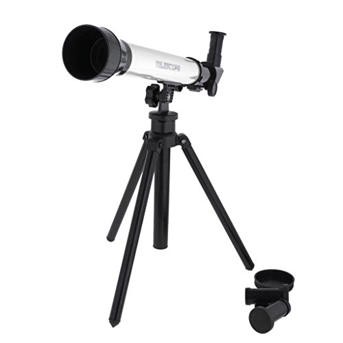 MagiDeal Silver Astronomical Telescope w/ Tripod Play Set Kids Students Educational Toy Creative Gifts