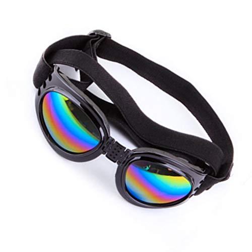 Idyandyans Sommer faltende Haustier-UV400 Sonnenbrille Haustier-Augen-Glas-Wind-Staub Schutzbrille Elastic Halsband