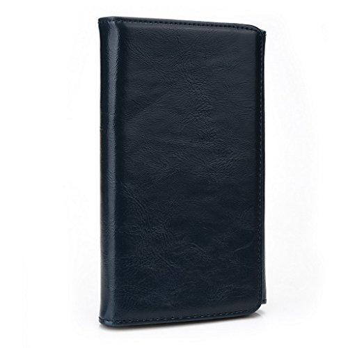 Kroo Portefeuille unisexe avec SHUKAN Q470/Millennia octa510ajustement universel différentes couleurs disponibles avec affichage écran Bleu - bleu Bleu - bleu