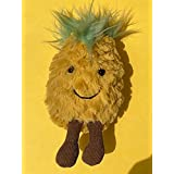 FluffPuff Cute Pineapple Plush Toy and A Keychain Stuffed Toy, Keychain Stuffed Plush Pineapple, Soft and Cute (15cm)
