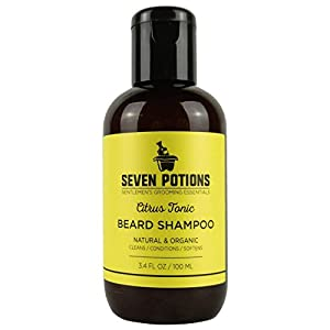 Beard Shampoo for Men 100 ml Natural, Vegan, Cruelty Free. Make Your Beard Softer And Cleaner With The Best Beard Wash. Conditions Deeply. Soft Beard Cleanser that Stops Beard Itch (Citrus Tonic, 100 ml)