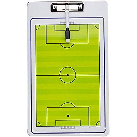 Calcio Double Sided Coach Tactical Board + pennarello Allenatori Calcio Aids