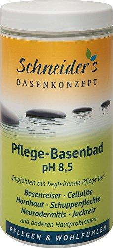 Original Schneider's Pflege-Basenbad - von Heilpraktikern entwickelt - Badesalz - Besenreiser - unterstützt die Entsäuerung - 600g -...
