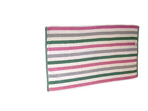 Miami banda di alta qualità 600 GSM e 100% del tovagliolo di mano del cotone Disponibile a strisce di colore rosa, bianco e verde, (50 x 90 cm) Formato. - Goffrato Asciugamani Ospiti