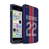 eSwish Personnalisé Kit Maillot Football Euro Personnalisé Matte Coque Robuste pour Apple iPhone 4/4S / Bleu Rouge Design/Initiales/Nom/Texte Antichoc Etui/Housse/Case