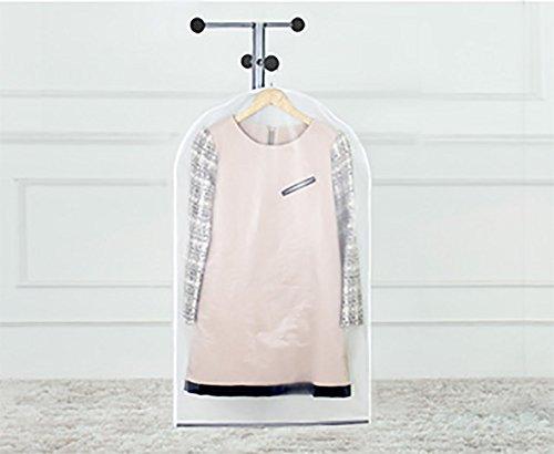 Kingt 5er Kleiderschutzhülle transparent Anzugsack Hülle Staubabdeckung für Kleidungsstück Kleidung Lagerung Hängetasche (60cm*100cm)LEK01T