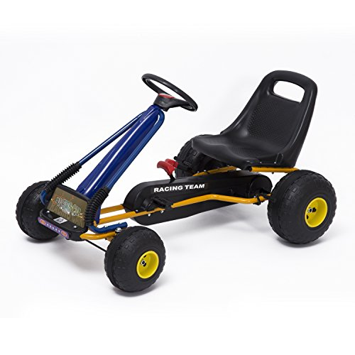 Go-Kart with Pedals and Wheels Cars Children with Pedals Approved by Norma EN 71 Adjustable Seat and Hand Brake