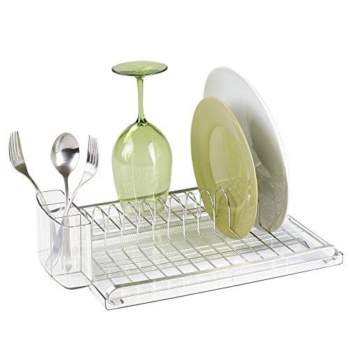 mdesign-pompa-dispenser-di-sapone-con-organizzatore-spugne-e-pagliette-per-ripiani-cucina-trasparent