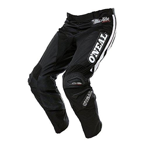 O\'Neal Ultra Lite LE 75 MX Hose Schwarz Weiß Motocross Enduro Offroad Quad DH Pants, 0119-5, Größe 38/54