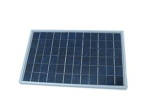 ECO-WORTHY Solarpanel 10W Solarmodul 12v Solarzelle Pv 12 Volt zum Aufladen von 12V Batterien