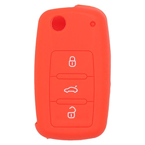 fassport-silicone-cover-skin-jacket-for-volkswagen-skoda-seat-3-button-flip-remote-key-cv2801-orange