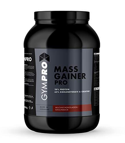 GymPro Weight Gainer Professional mit Protein, Kohlenhydrate (Maltodextrin, Dextrose) und Aminosäuren + Kreatin (Schokolade, 2500g)