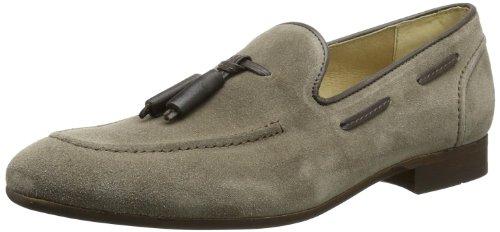 Hudson London Pierre F406065 Herren Slipper, Braun (Taupe), EU 42 (Taupe Leder-loafer)