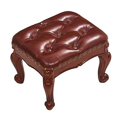 Hocker Massivholz Luxus Hause Amerikanischen Kleinen Stuhl Sofa Kleinen Europäischen Stil Wohnzimmer Schuhbank von HHY - Gartenmöbel von Du und Dein Garten