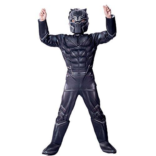 Hallowmax Kinder Cosplay Kostüm Black Panther Cartoon Marvel Comic Mottoparty Halloween Karneval