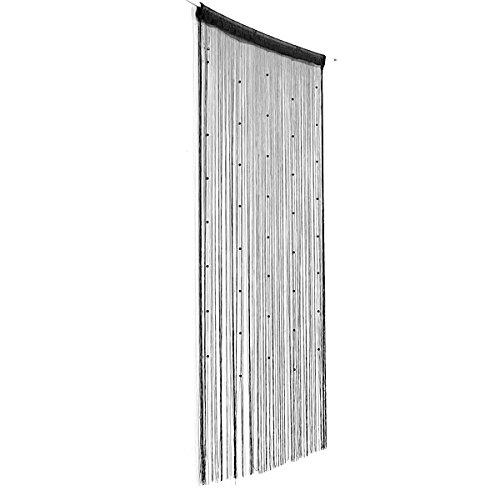 Preisvergleich Produktbild Bluelover Nachgeahmte Kristalle Perlen String Vorhang Fenster DIY-Wand-Dekor-schwarz