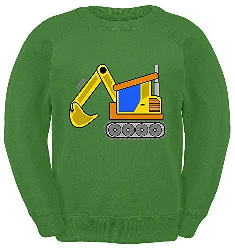 HARIZ Kinder Sweater Gelber Bagger Auto Polizei Inkl. Geschenk Karte Limette Grün 104/3-4 Jahre -