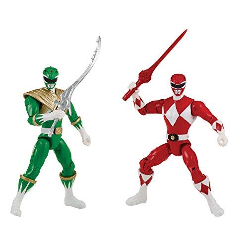 Power Rangers 2Pack de 2figuras 12cm rojo vs Ranger verde, 43523