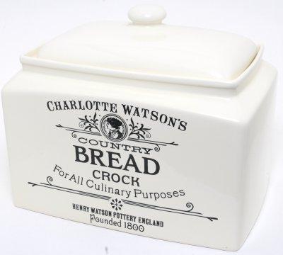 Charlotte Watson Rectangular Bread Crock 666
