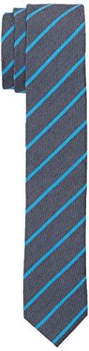 Calvin Klein Herren Krawatte Trend Slim 5 cm, Blau (Aqua 445), One size