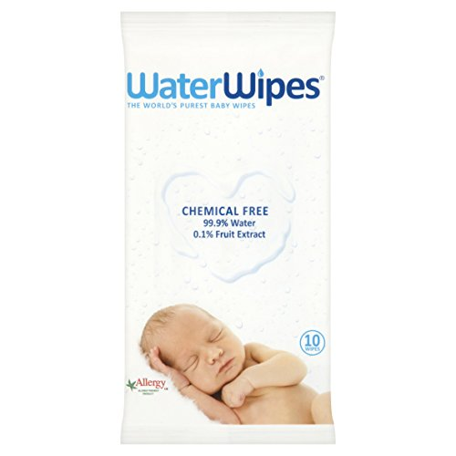 WaterWipes Travel Baby Wipes, 10 Wipes 41bsIe 4VqL
