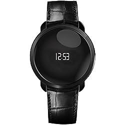 MyKronoz ZeCircle Premium Flat - Pulsera de actividad y sueño con notificaciones, color negro