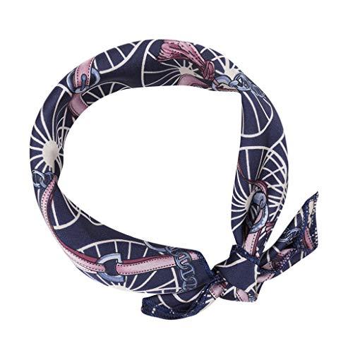 QIMANZI Professionel klein Schals Jahrgang Elegant Entwürfe Die Seide Satin Gefühl Damen Klein Quadrat Kopf/Halstuch(I1,48x48CM) - Cranberry Farbe Teppich