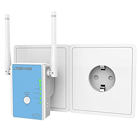 LTERIVER 802.11N 300Mbps WiFi Repeater WiFi Range Extender Wireless Signal Booster Wireless Signal Amplifier