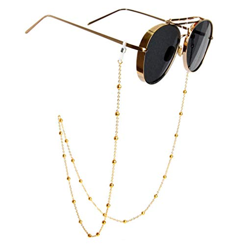 Fauhsto Brillenbänder & -ketten für Damen,Glasses Chain,Dekorative Gläserkette,Lesebrillen Perlen Brillen Cord Brillenbänder Kette Brille Hals Cord