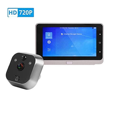 Kafuty 5 Pouces OLED Judas Vidéo HD 720P 160° Grand Angle Système Audio Bidirectionnel en Temps Réel avec IR Vision Nocturne et Derection de Mouvement Grande Capacité Batterie pour Sécurité Domicile