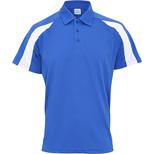 Awdis Cool Mens Contrast Cool Polo Shirt Royal Blue/ Arctic White