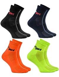 Rainbow Socks - Hombre Mujer Calcetines de Deporte Neon