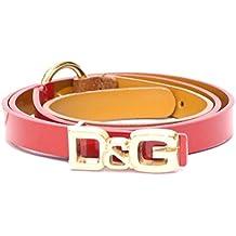 3f8e393a712 Dolce   Gabbana D G Cintura donna Asta dritta Nappa Vernice DC0604E71D col.  Rosso-Marrone