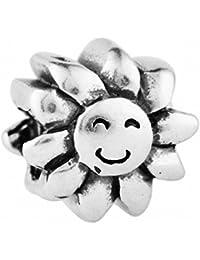 Mujeres encanto de las flores de las granadas de los encantos de las mujeres 100% plata esterlina 925,descuento colección