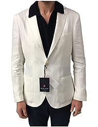 ROYAL ROW giacca uomo sfoderata panna mod LONDON G90S vestibilità slim 100%  lino MADE IN 349554b2767f