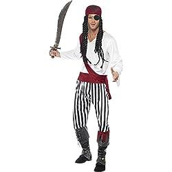 Disfraz completo de pirata para hombre.