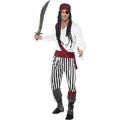 Pirate - Disfraz de pirata para hombre, talla UK 42 (25783L)