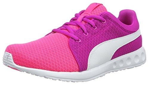 Puma Carson Runner 400 Mesh Jr, Sneakers Basses Mixte Enfant Rose (Knockout Pink-puma White 04)